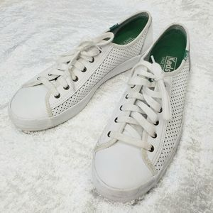 Keds Perforated Laser Cut Sneakers in White
